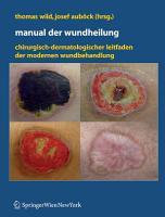 Manual der Wundheilung PDF