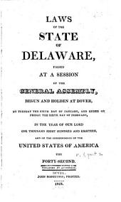 Laws of the State of Delaware: Volume 5, Part 2