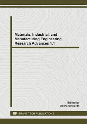 Materials  Industrial  and Manufacturing Engineering Research Advances 1 1 PDF