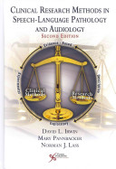 Clinical Research Methods in Speech language Pathology and Audiology