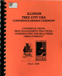 Illinois Tree City USA Conference awards Ceremony