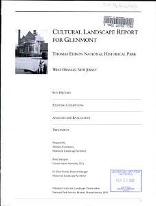 Cultural Landscape Report for Glenmont PDF