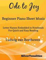 Ode to Joy Beginner Piano Sheet Music PDF
