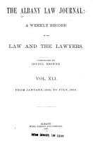 Albany Law Journal PDF