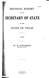 Biennial Report of the Secretary of State of the State of Texas
