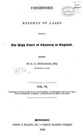 Reports of Cases Decided in the High Court of Chancery: With Notes and References to Both English and American Decisions