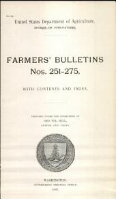 Farmers' Bulletin: Issues 251-275