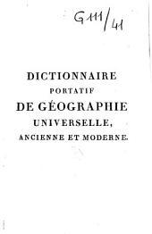 Dictionnaire de géographie universelle ancienne, du moyen-âge et moderne comparées... rédigé sur le plan de Vosgien...