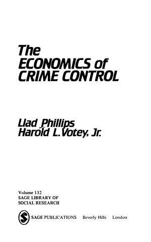The economics of crime control