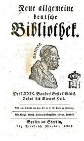 Neue allgemeine deutsche Bibliothek: Band 79