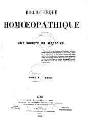 Bibliothèque homoeopathique: Volume1