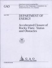 Department of Energy: Accelerated Closure of Rocky Flats: Status and Obstacles