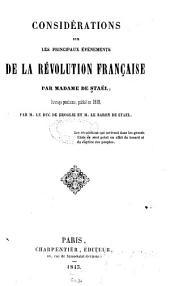 Considérations sur les principaux événements de la révolution française