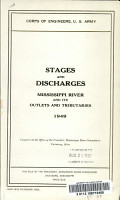 Stages and Discharges  Mississippi River and Its Outlets and Tributaries PDF