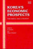Korea s Economic Prospects PDF