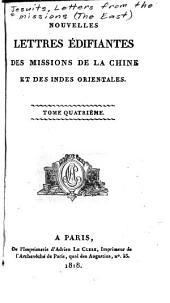 Nouvelles lettres édifiantes des missions de la Chine et des Indes orientales: Volume4