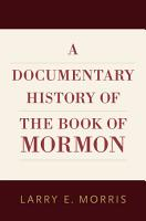 A Documentary History of the Book of Mormon PDF
