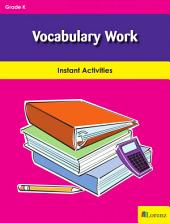 Vocabulary Work: Instant Activities