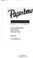 Paperbound Books in Print PDF