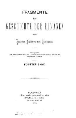 Fragmente zur Geschichte der Rum  nen   F  rum  n  Cultus  u  Unterrichts Min    PDF