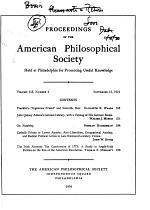 Proceedings, American Philosophical Society (vol. 118, No. 4, 1974)