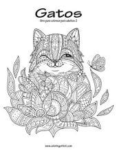 Gatos libro para colorear para adultos 2