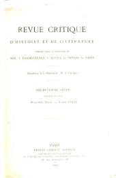 Revue critique d'histoire et de littérature: Volume2;Volume18