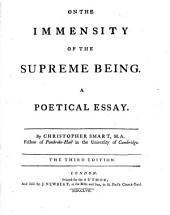 On the immensity of the Supreme being, a poetical essay: Volume 3