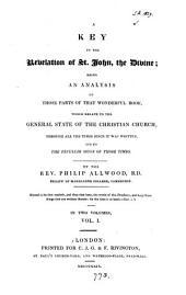A key to the Revelation of St. John: Volume 1