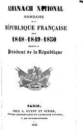 Almanach national annuaire de la République française: 1848-50