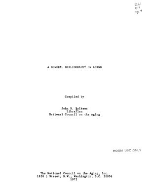 A General Bibliography on Aging PDF
