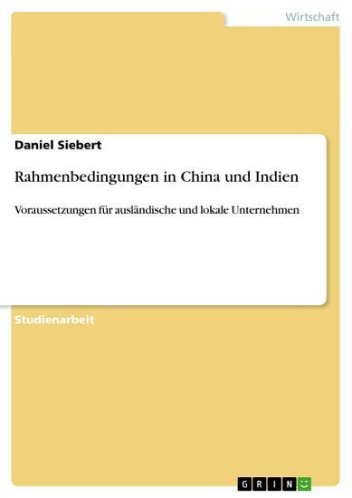 Rahmenbedingungen in China und Indien PDF
