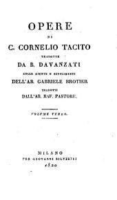 Opere di C. Cornelio Tacito: Volume 3