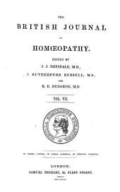 The British Journal of Homoeopathy: Volume 7