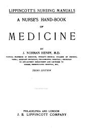 A Nurse's Hand-book of Medicine