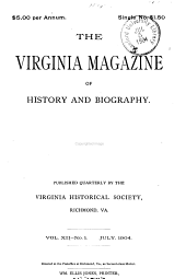 The Virginia Magazine of History and Biography: Volume 12