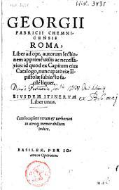 Roma: ejusdem itinerum liber unus