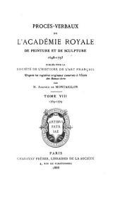 Procès-verbaux de l'Académie royale de peinture et de sculpture, 1648-1793: Volume8