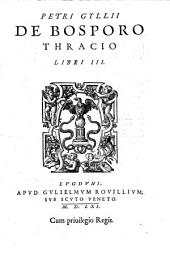 De Bosporo Thracico libri III