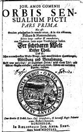 Joh. Amos Comenii Orbis Sensualium Picti Pars Prima. Hoc est : Omnium principalium in mundo rerum, & in vita actionum, Pictura & Nomenclatura