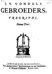 J. v. Vondels gebroeders: Treurspel, Volume 1