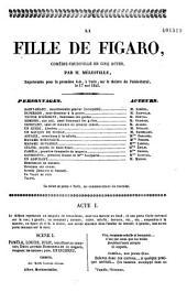 La fille de Figaro: comédie-vaudeville en cinq actes