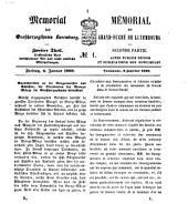Memorial des Großherzogthums Luxemburg: Band 2