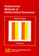Fundamental Methods of Mathematical Economics PDF