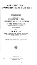 Agricultural Appropriations for 1955, Hearings Before ... 83-2, on H.R. 8779