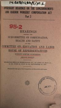 Oversight Hearings on the Longshoremen s and Harbor Workers  Compensation Act PDF