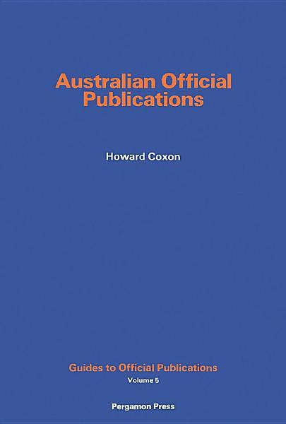 Download Australian Official Publications Book
