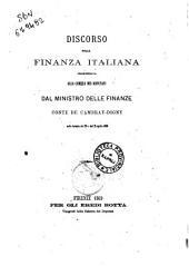 Discorso della finanza italiana detto dal conte de Cambray-Digny Ministro delle finanze alla Camera dei deputati il 20 gennaio 1868