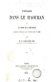 Voyage dans le Haouran et aux bords de la Mer Morte: exécuté pendant les années 1857 et 1858
