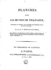 Planches pour les oeuvres de Vicq-D'Azyr